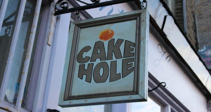 Cake Hole Cafe Sign Columbia Road London